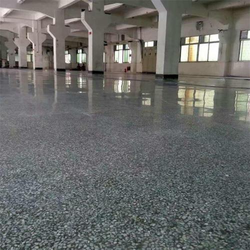 水磨石加固化地坪